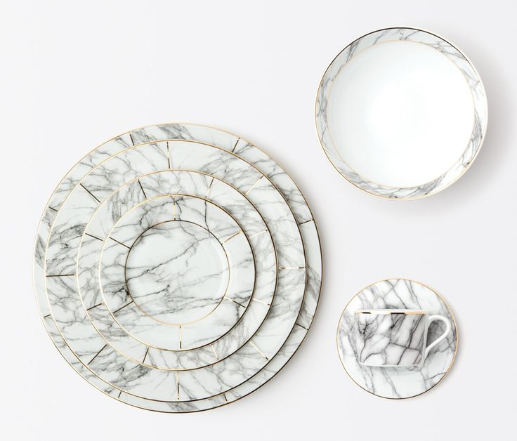 Eleni White Marble - Dinnerware  sc 1 st  Pinterest & 283 best Product Design: Tableware/ Dinnerware images on Pinterest ...