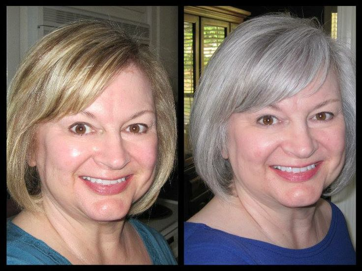 Gray Hair Color Before And After Kelly Ripa Jessica