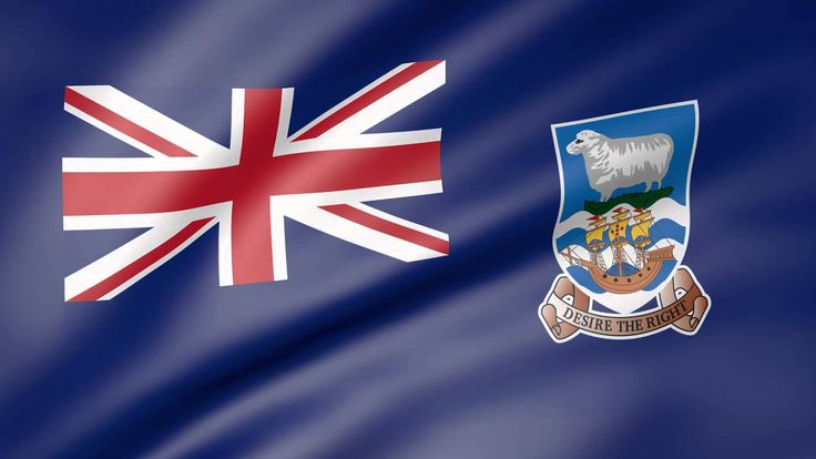 Falkland Islands (Islas Malvinas) Animated Flag