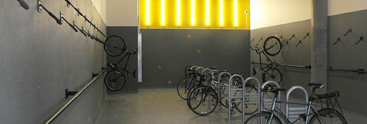 Inspiration | Mosaic Centre A much needed touch to office buildings in Edmonton Alberta. A bike storage room to promote reduced vehicle usage and environmentally friendly commuting. http://www.themosaiccentre.ca/inspiration