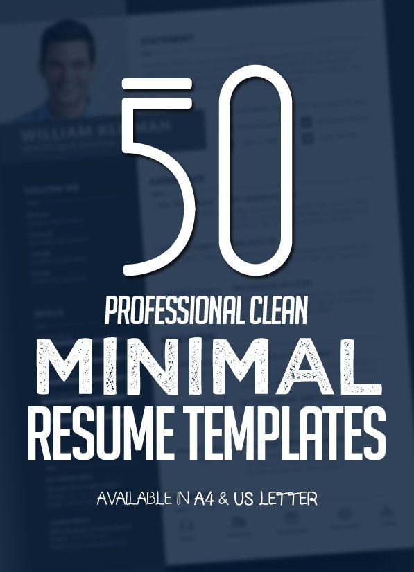50 Best Minimal Resume Templates