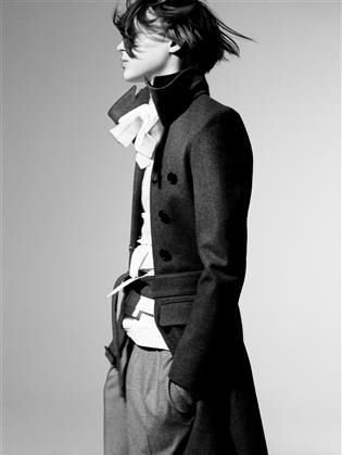 """The cut of the jacket is stunning - I adore send up collars, a hint of flounce against severe tailoring"""