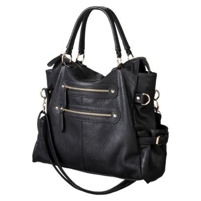 Moda Luxe Satchel with Zippers - Black...target purses...buy one get one 50% off