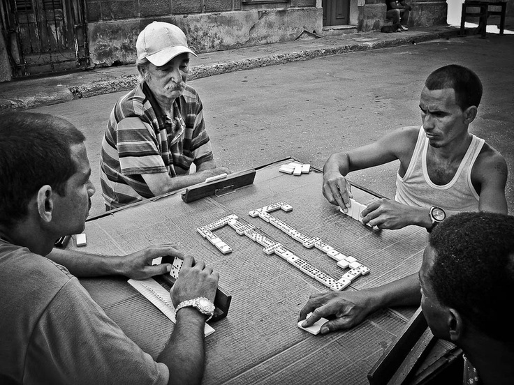 Dominos. Picture shot in La Havana, Cuba.