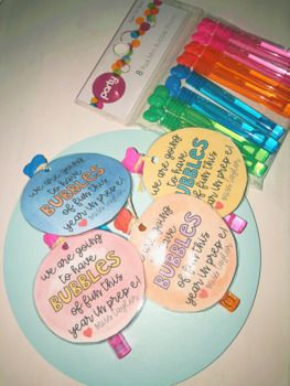 FREE Bubble Tags for the Beginning of the Year!