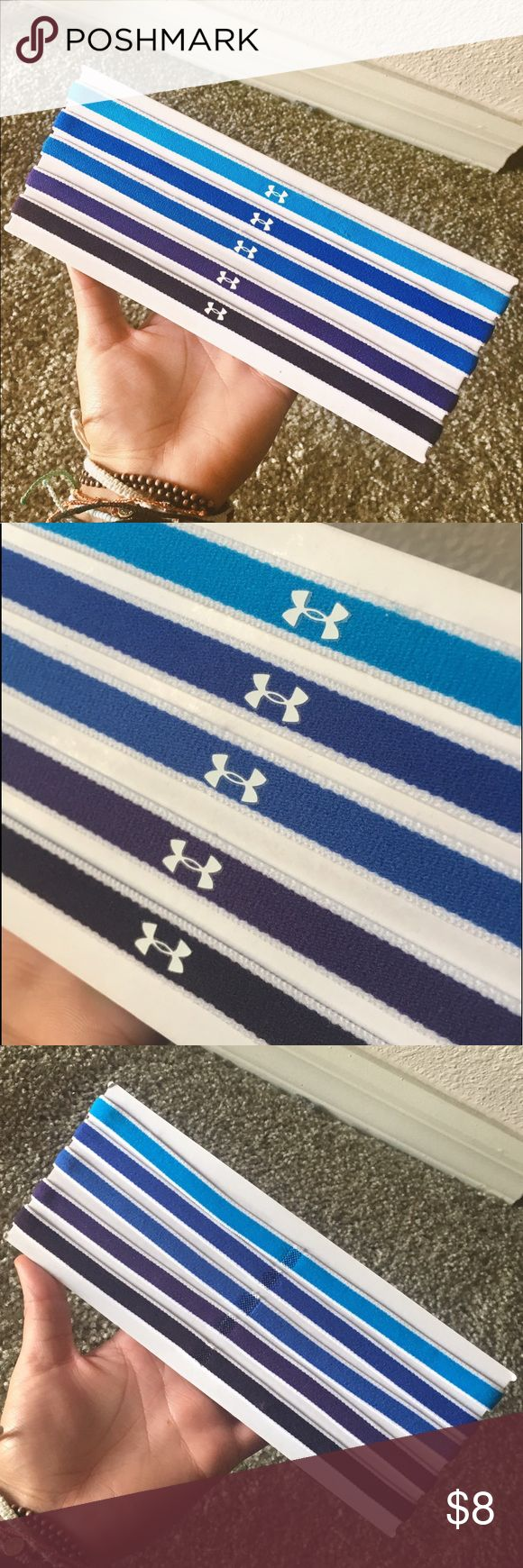 Under Armour Women's Headbands 6 pack NEW & UNUSED 5 pack of Under Armour headbands, multi shades ranging from bright blue to deep indigo. On the go and need a quick fix for your hair? Just pop on one of these babies and you're are ready to take on the day without the hassle of those pesky flyaways!💁🏽🏃🏽‍♀️👟   • Feel free to offer! Most prices are negotiable • Bundle your items to save! 5% off 2+ • I do not trade • Fast shipping! Same or next day Any questions? Just message me! Under…