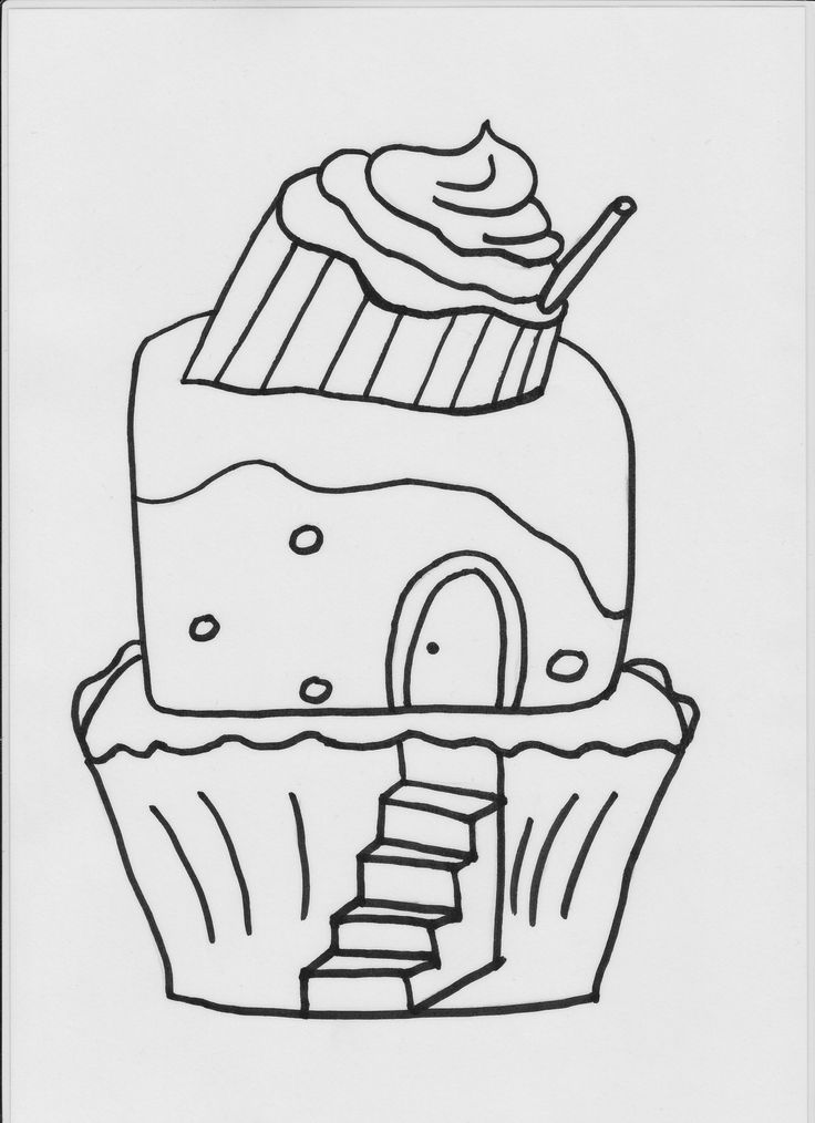 zwart wit prent: koekjeskasteel (de knuffelkoningin)