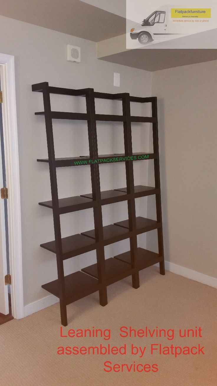 Overstock Leaning Bookcase Assembled By Flatpack Assembly NW DC  Www.flatpackservices.com Best Furniture