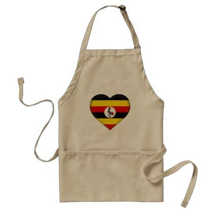 Uganda Flag Adult Apron - kitchen gifts diy ideas decor special unique individual customized