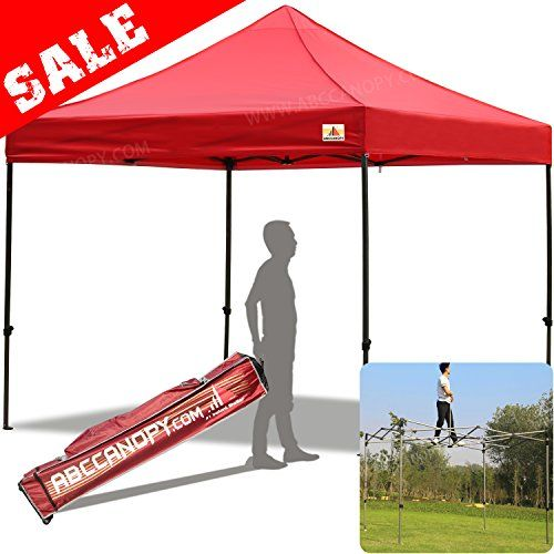 (30+colors)ABCCANOPY Commercial 10X10 FT Outdoor Pop Up Portable Shelter Instant Folding Canopy Tent (RED).