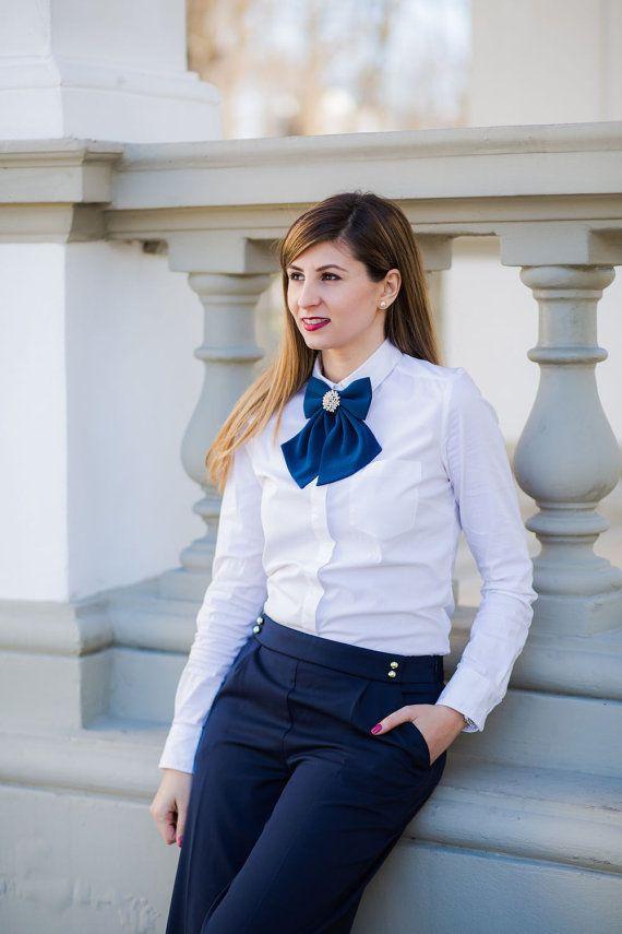 Navy Blue Matte Women's Bow Genuine New by #BowsByVaniaSzasz #Etsy