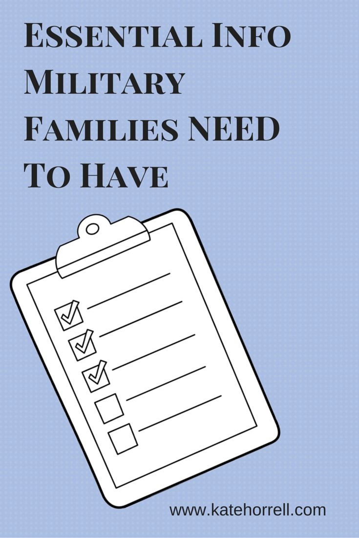 Essential Info Military Families Need To Have | www.KateHorrell.com