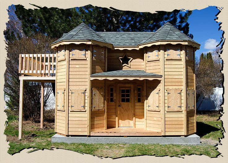 362 best the playhouses images on pinterest backyard for Victorian play house