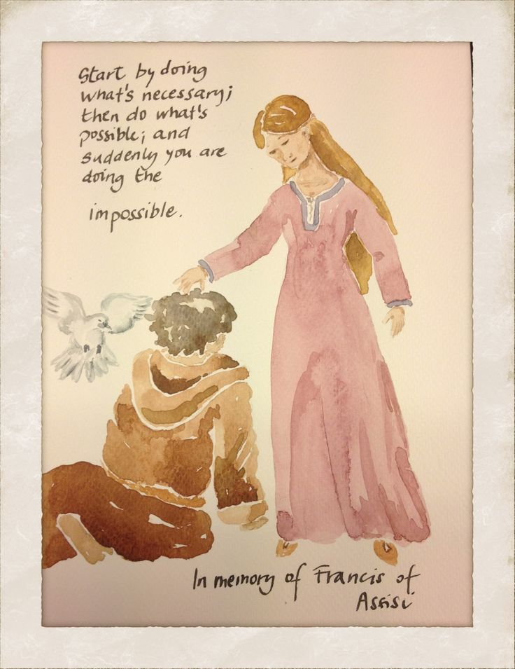 In memory of Francis of Assisi