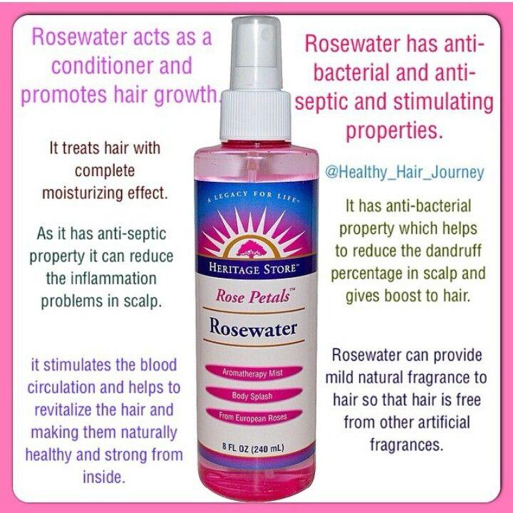 Rose water on skin