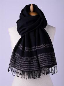 ILLANGO FASHION, HANDWOVEN SCARVES, cotton scarf with eye ornament