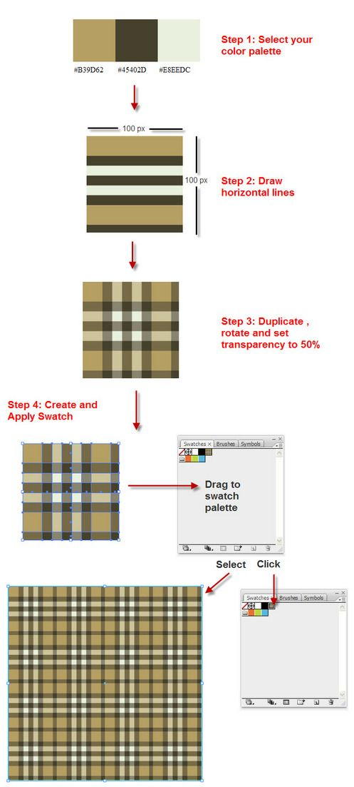 Create a Burberry Style Plaid with Illustrator in 4 Steps