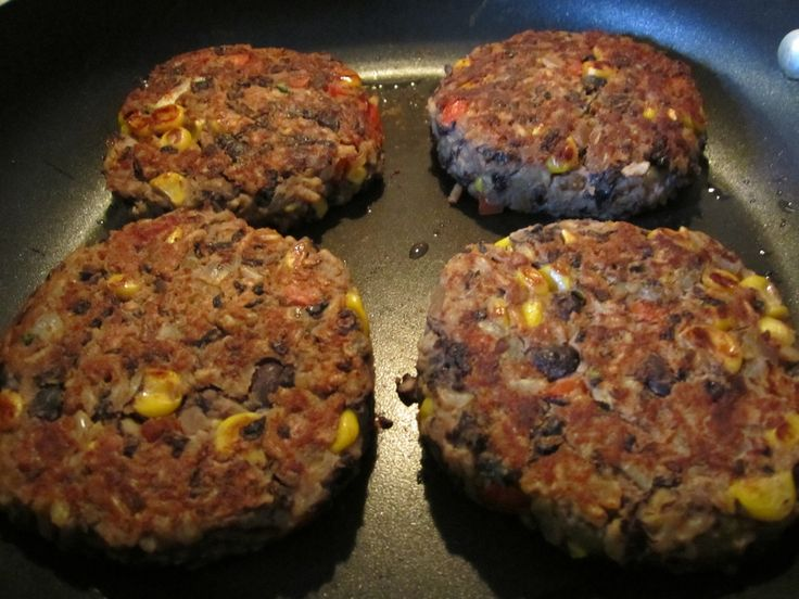 Black Bean Burgers | Can't live by fabric alone! | Pinterest