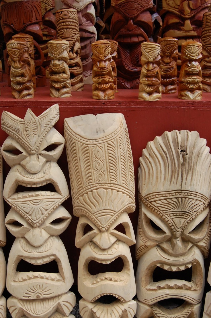 Hawaiian Tiki Mask. Every time I see tikis I think of the Brady Bunch. Why?!?!