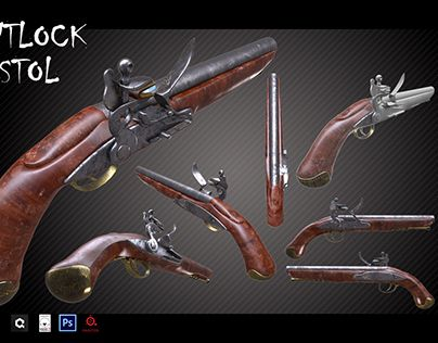 "Check out new work on my @Behance portfolio: ""Flintlock Pistol"" http://be.net/gallery/37152053/Flintlock-Pistol"