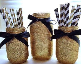 VENTE rose et or mason jar ensemble parti par EverydayDesignEvents
