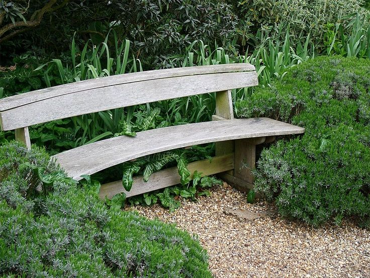 Bench at Beth Chatto's garden