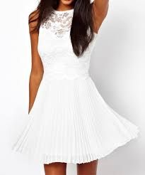Vestido corto blanco para fiesta