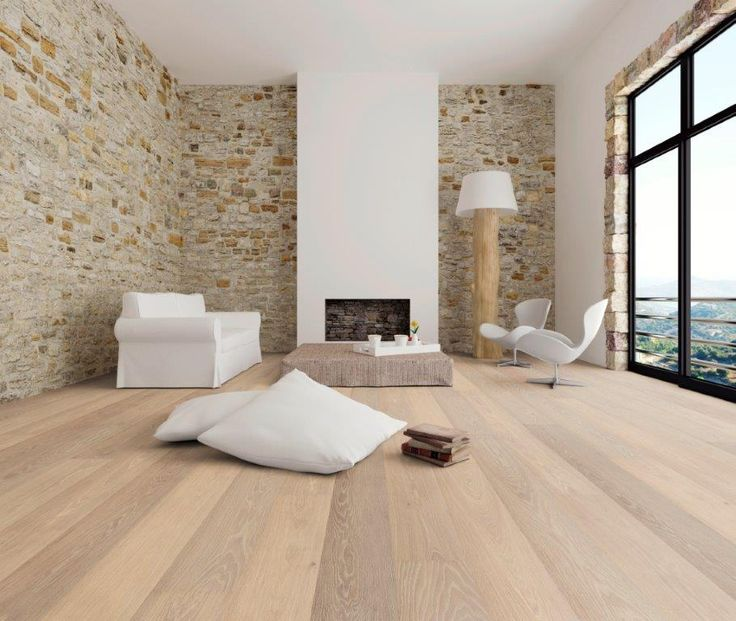 Intrigieren Wohnzimmer Holzboden Eiche Einbringen
