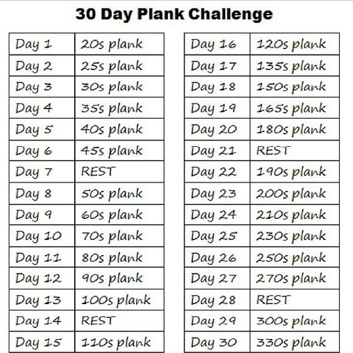 30 DAY PLANK CHALLENGE!!! Are you in? Post shows proper ...
