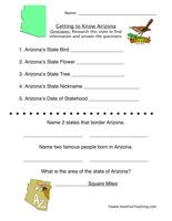Arizona Worksheets on Printable Worksheets Fourth Grade Florida Studies