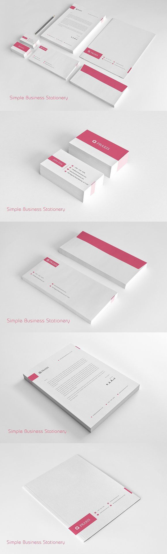 27 best clean stationery designs images on pinterest stationery simple business stationery creative business card templates accmission Images