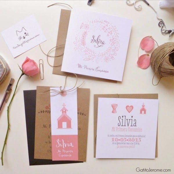 17 mejores ideas sobre invitaciones comunion en pinterest - Como hacer tarjetas para comunion ...
