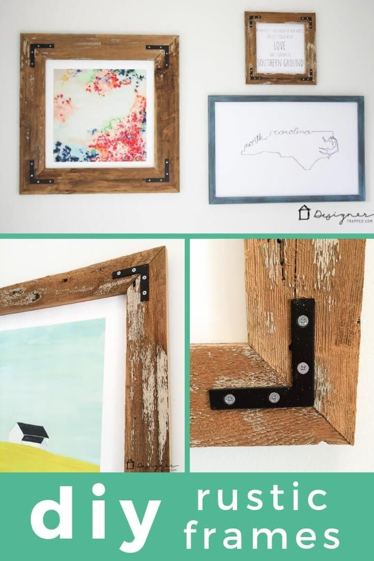How To Make A Diy Picture Frame From Upcyled Wood Diy Picture