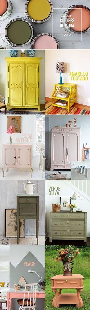 Vuelve a dar vida a tus muebles más antiguos con la pintura Chalk Paint y su amplia y bonita gama de colores. ¡Descubre algunas ideas en nuestro blog!