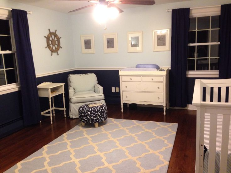 Ships Wheel, Navy Blue And White. Repurposed Dresser Made Into A Changing  Table. Now We Just Need To Add Some Baby Photos To These ...