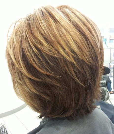 short to medium style layered bob hairstyles short layered bob hair i have done pinterest