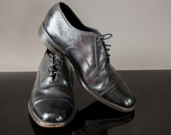 Vintage 50's  black men's dress shoes, Florsheim