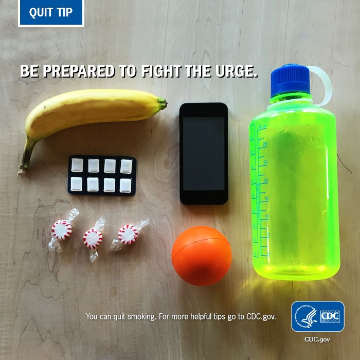 #QuitTip: Being prepared will help you overcome the urge to smoke. Get your gear together & quit smoking for good!