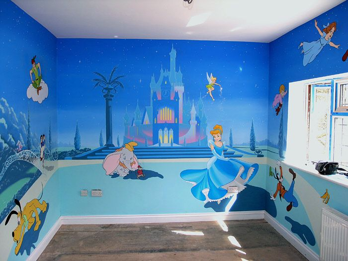 25 best ideas about disney themed nursery on pinterest for Castle mural kids room