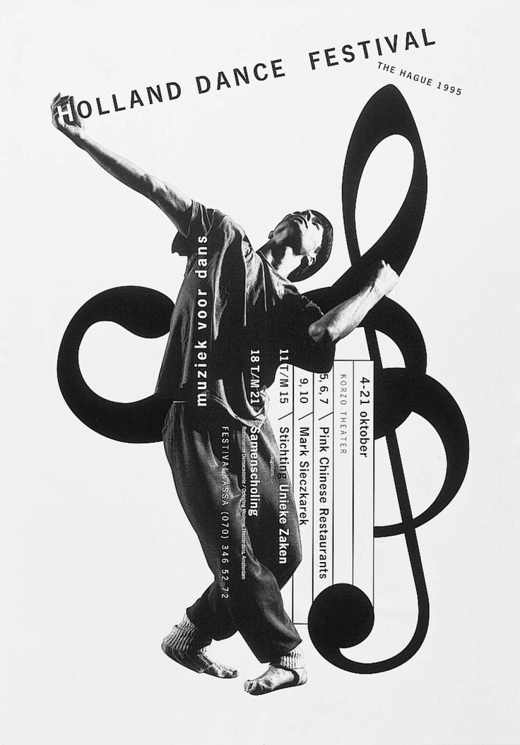 #bobvandijk Poster series for Holland Dance Festival. Winner of the prestigious Dutch 'Rotterdam Design Prize' (made at Studio Dumbar)