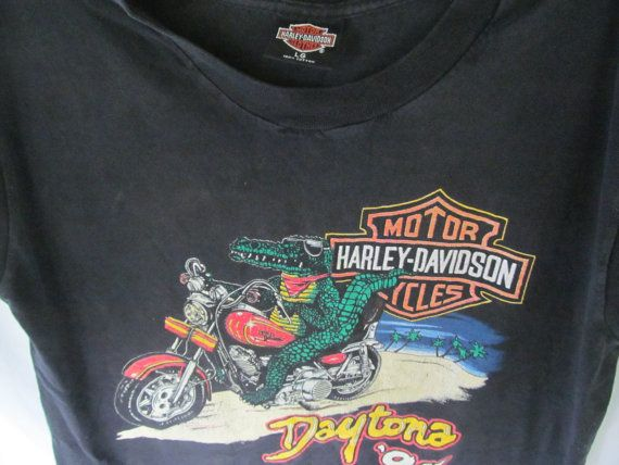 Grunge Gater Biker Vintage Harley Davidson Authentic Harley Dealer Shirt Since 1964 by ReVintageBoutique.Etsy.com