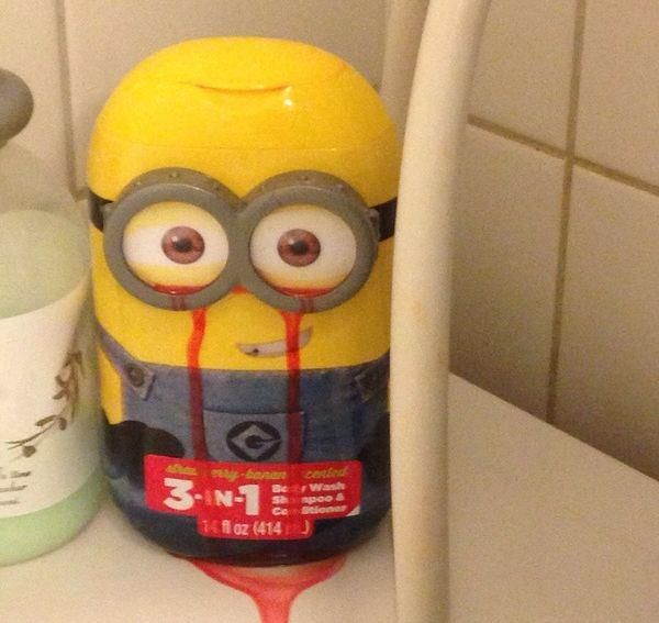 design disturbing in cleats this metal flaw Minion baseball Slightly body wash