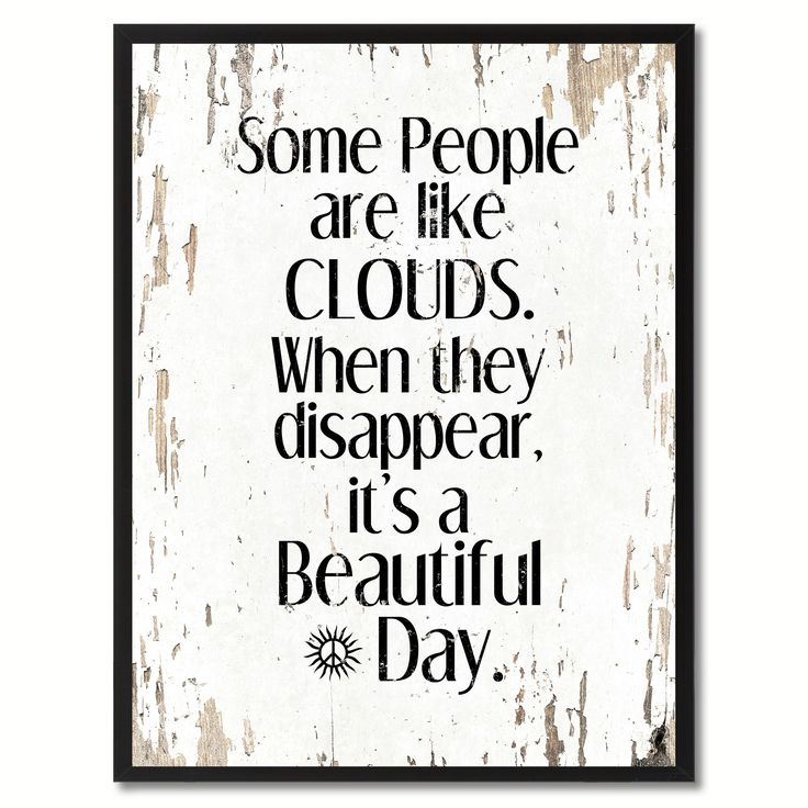 Some people like clouds Inspirational Saying Home Décor Wall Art Gift