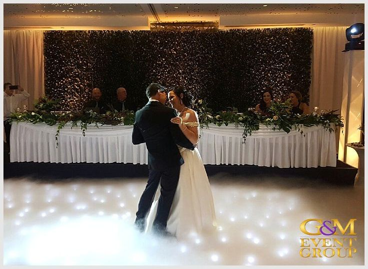 Rainforest inspired wedding reception at the Hilton Gold Coast - Bridal Waltz Dancing on a Cloud and Starlight Dance Floor | Surfers Paradise | #GMEventGroup #MCGlennMackay #DJBenShipway #Uplighting #EventLighting #Monogram #DJFacade #StarlightDanceFloor #RainForestTheme #DancingonaCloud