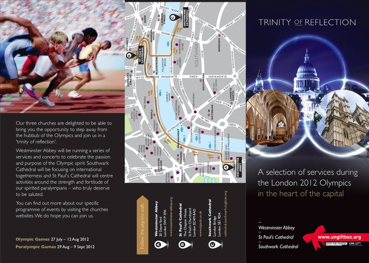 St Paul's Cathedral Olympic Leaflet