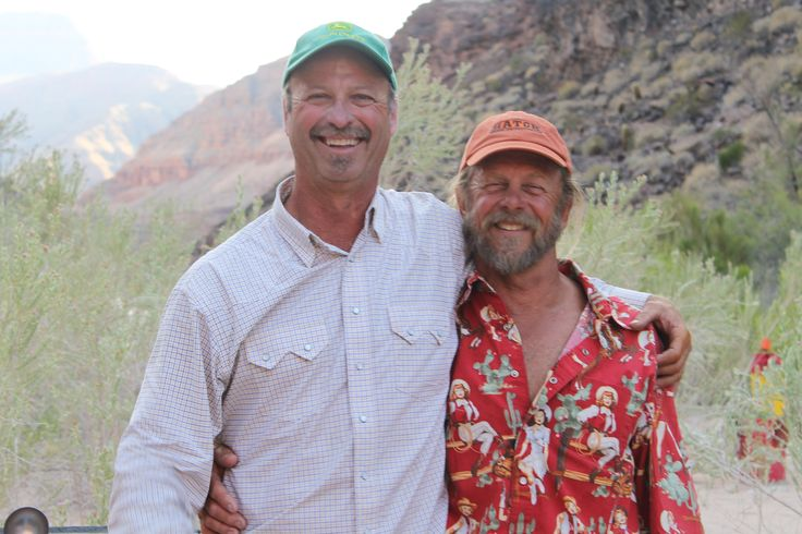 Grand Canyon guides Mike Fabry and Scotty Stevens. The Marlboro Man has nothing on these two :) ! The best !