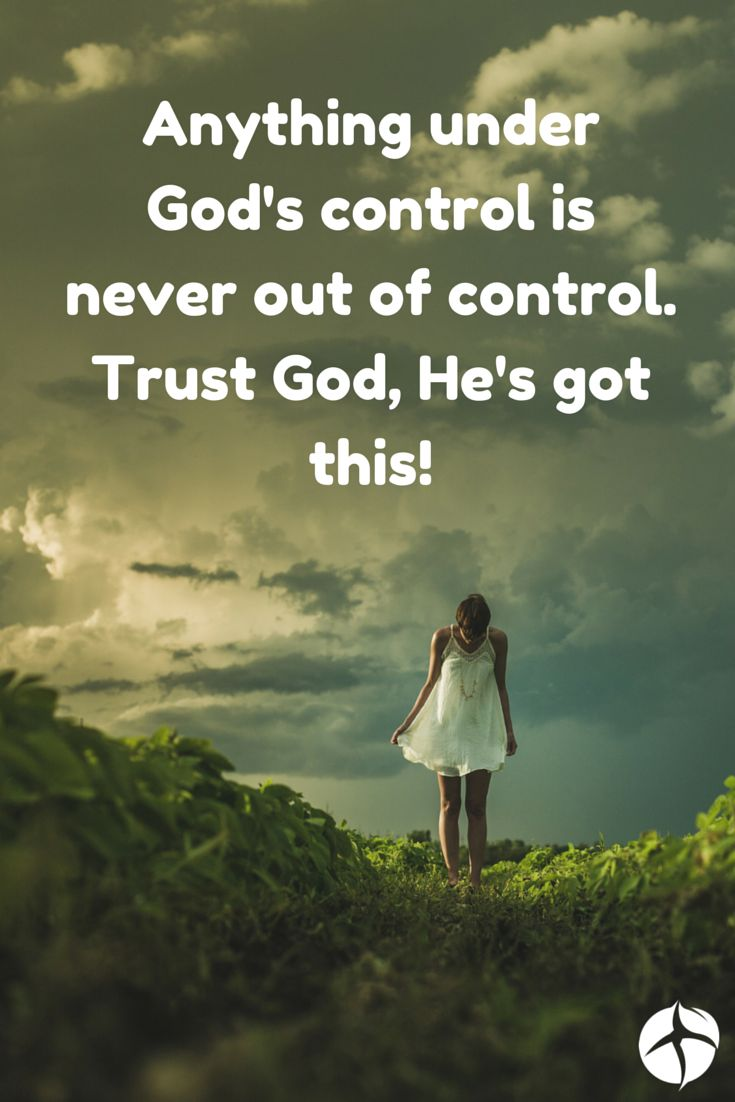 Just Let Go and Let God.