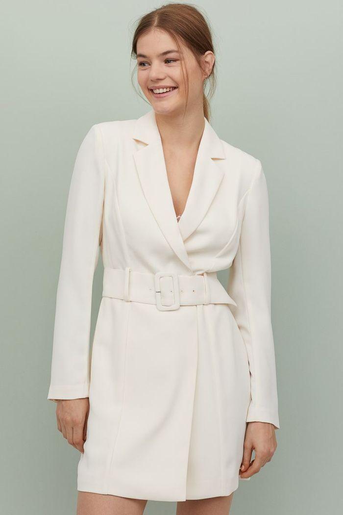 H M Jacket Dress In 2020 Jacket Dress Short Dresses Cream Dress
