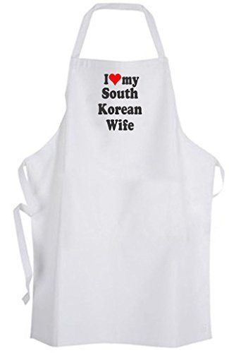 I Love my South Korean Wife  Adult Size Apron  Wedding Marriage Husband ** Find out more about the great product at the image link.