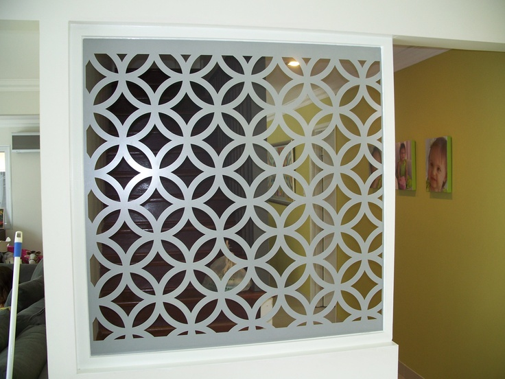Foyer Room Divider : Room divider separation of entry foyer to stairwell in